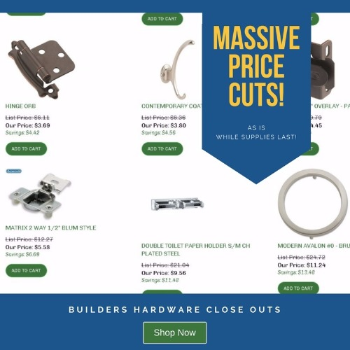 Builders Hardware Close Outs