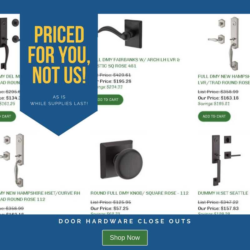 Door Hardware Close Outs